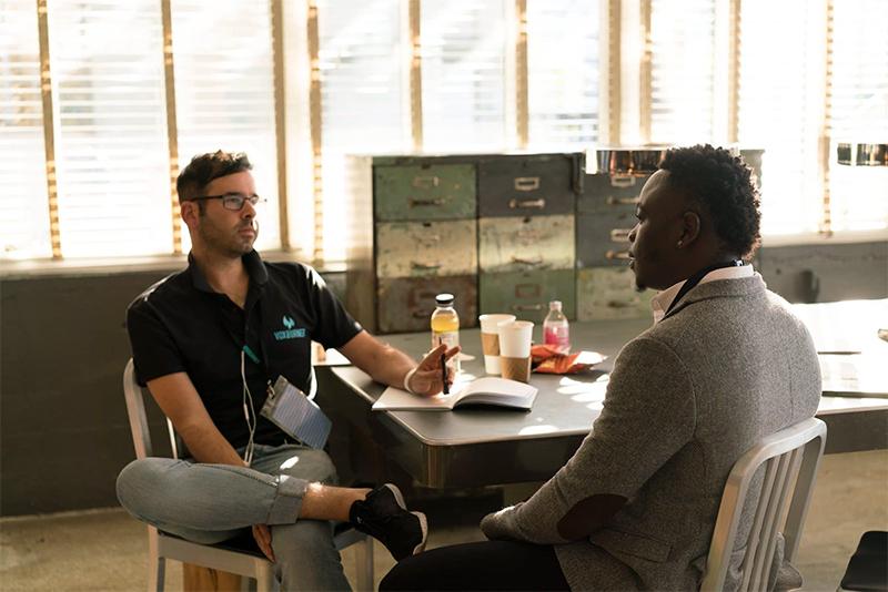 Job interview between two people