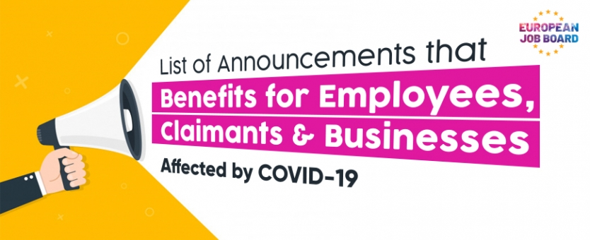 COVID-19 support for employees, benefit claimants and businesses